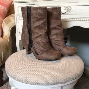 Not Rated Fold Over Boots with Zipper